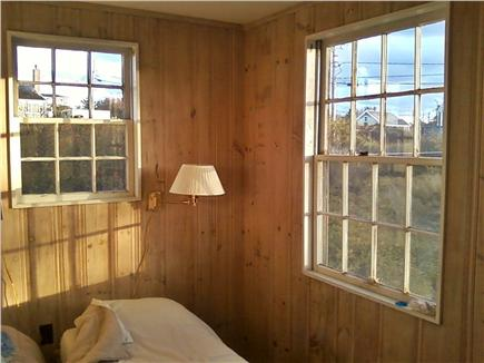 North Truro Cape Cod vacation rental - Smaller downstairs guest room (windows being painted).