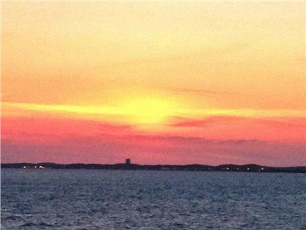 North Truro Cape Cod vacation rental - Back deck views of Bay, sunset, and the hook of the Cape.