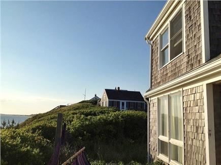 North Truro Cape Cod vacation rental - View towards Provincetown from living room deck.