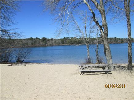 Sandwich Cape Cod vacation rental - Private freshwater beach at Lawrence Pond