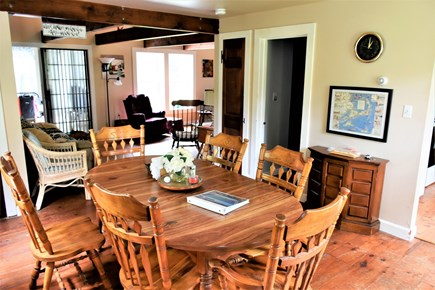 Sandwich Cape Cod vacation rental - Dining area with open view to living room