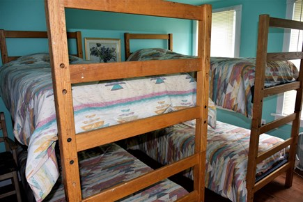 Sandwich Cape Cod vacation rental - Upstairs bedroom with two sets of bunk beds
