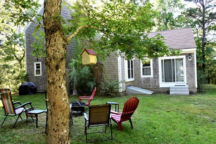 Sandwich Cape Cod vacation rental - Yard with grill, outdoor shower and fire pit