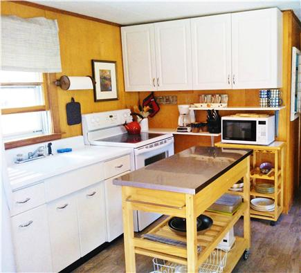 Eastham Cape Cod vacation rental - Bright kitchen with stainless island