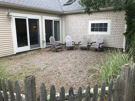 West Yarmouth Cape Cod vacation rental - Outside stone patio sitting area