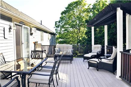 Osterville Osterville vacation rental - Oversized deck view 2 (working gas grill not shown)