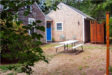 Eastham Cape Cod vacation rental - Back yard with new private outdoor shower
