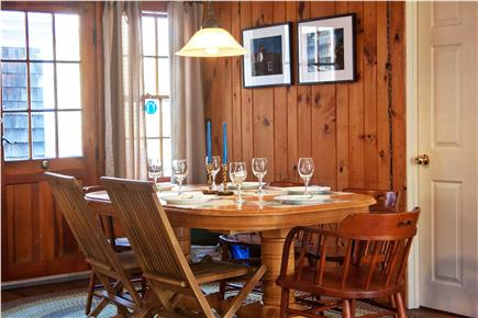 Eastham Cape Cod vacation rental - Open eating area with easy access to back yard and patio