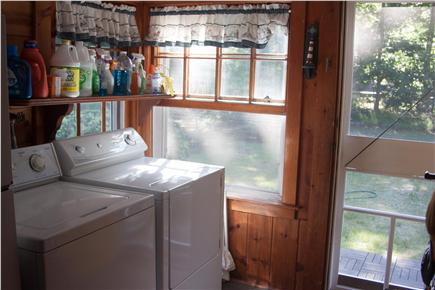 Eastham Cape Cod vacation rental - Laundry facilities in mud room with entry from side yard