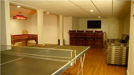 Yarmouth Cape Cod vacation rental - Finished Basement With Bathroom ,Shower, Pool Table, Bar, HDTVs