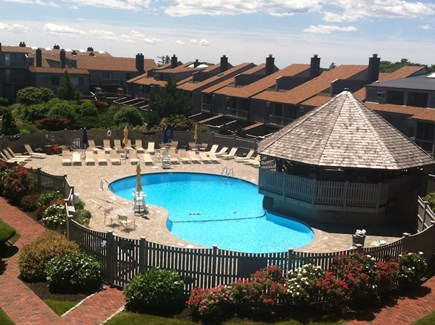 Hyannis Cape Cod vacation rental - Professionally Maintained Courtyard & Lifeguarded, Heated Pool