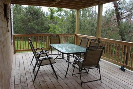 North Truro Cape Cod vacation rental - Lower deck