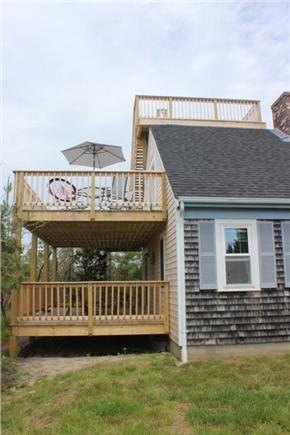 North Truro Cape Cod vacation rental - Tri level decks offer views of the Bay & P'town