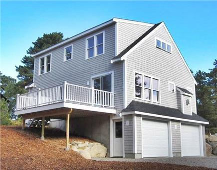 Wellfleet Cape Cod vacation rental - Back of Home featuring Large Back Yard and Private Deck