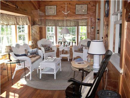 Dennis Cape Cod vacation rental - Front seating porch.