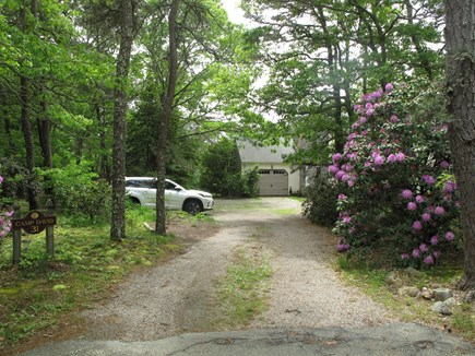 South Orleans Cape Cod vacation rental - Driveway and Camp David sign