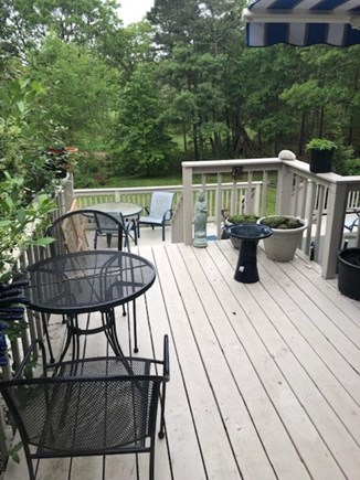 South Orleans Cape Cod vacation rental - Upper deck seating and view