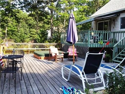 South Orleans Cape Cod vacation rental - Lower deck and  hot tub and enclosed outdoor shower