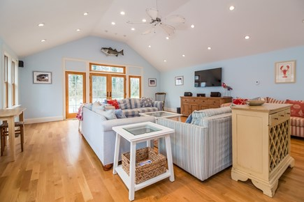 Brewster Cape Cod vacation rental - Main Living Area Open With Kitchen and Access Out To Back Deck