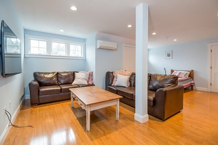 Brewster Cape Cod vacation rental - Above garage suite with bedroom, living area, kitchenette & bath.
