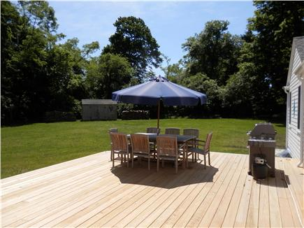 Brewster Cape Cod vacation rental - Deck Area with Gas Grill