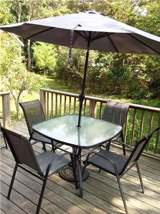 Wellfleet Cape Cod vacation rental - Comfortable dining area on deck off kitchen