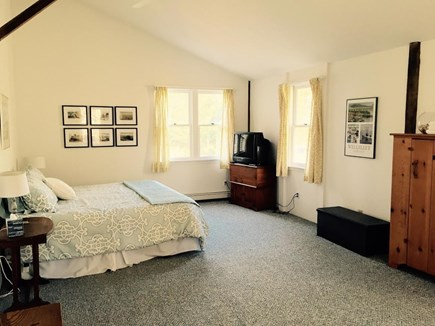 Wellfleet Cape Cod vacation rental - Large 1st floor master bedroom with king-size bed & sitting area.