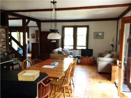 Wellfleet Cape Cod vacation rental - Open concept kitchen and dining w/ doors to one of two decks.