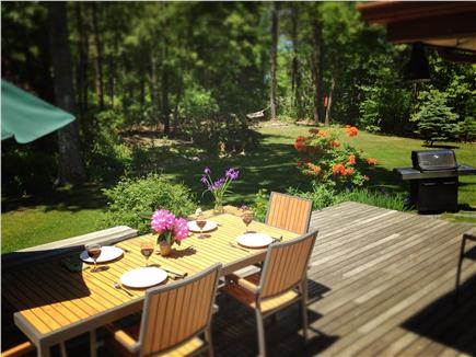 West Brewster Cape Cod vacation rental - Deck and lawn area ready for entertaining!