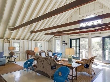 East Orleans Cape Cod vacation rental - Huge 3 season room/porch w/2 sets glass sliders & foosball table