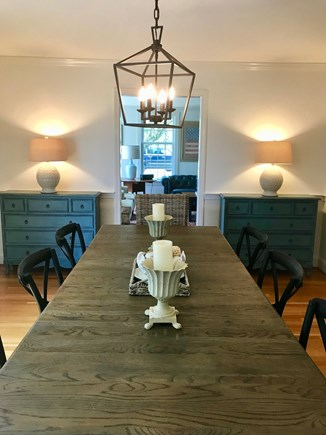East Orleans Cape Cod vacation rental - Light & Bright Dining Room seats 10, glass sliders to deck