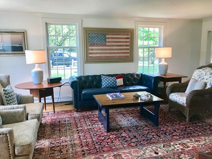 East Orleans Cape Cod vacation rental - Spacious Living Room with fireplace