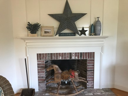 East Orleans Cape Cod vacation rental - Living Room Fireplace
