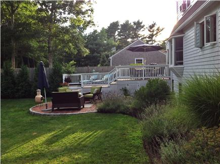 Osterville Osterville vacation rental - Spacious fenced in yard, with 3 tier deck and patio below.