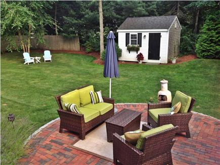 Osterville Osterville vacation rental - Patio with comfortable furniture and umbrella.