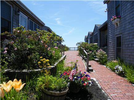 West Yarmouth Cape Cod vacation rental - Lovely Nantucket Brick Walkways and Flowers Galore