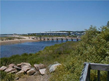 West Yarmouth Cape Cod vacation rental - View Boardwalk from Common Deck 2 Lg Barbecues available
