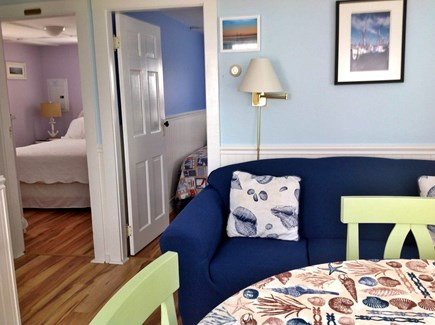 Truro Cape Cod vacation rental - View of bedrooms from dining/ sitting area.