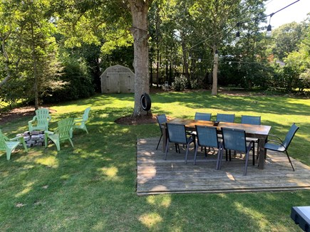 Falmouth Cape Cod vacation rental - Back yard with fire pit