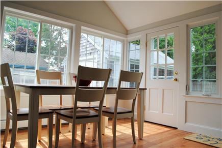 Downtown Falmouth Cape Cod vacation rental - Breakfast area in kitchen
