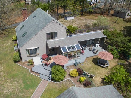 Eastham Cape Cod vacation rental - House/Deck from drone