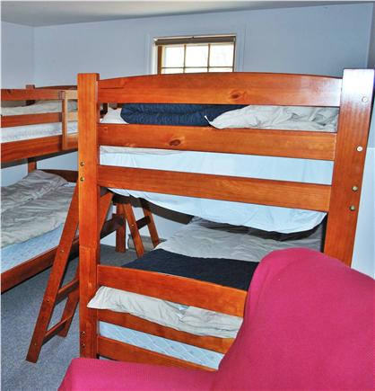 Eastham Cape Cod vacation rental - Bunk Room: beds for four, plus couch, recliner, and mini-frig