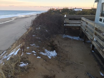 South Wellfleet Cape Cod vacation rental - Front deck had to be cut back in 2018 due to Erosion.