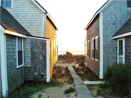 Truro, Corn Hill Cape Cod vacation rental - View of bay between the cottages