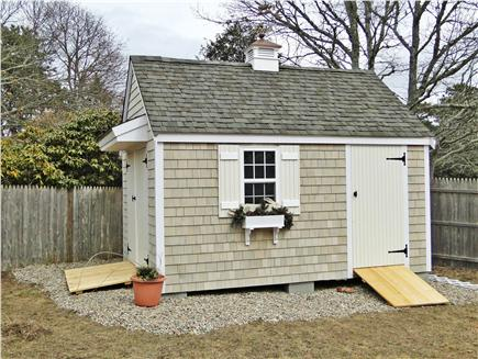 West Yarmouth Cape Cod vacation rental - Shed in back yard area with room for games