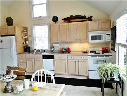 West Yarmouth Cape Cod vacation rental - Kitchen area with new appliances, bright and sunny