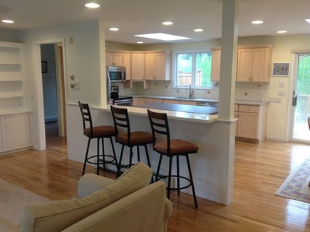 Brewster Cape Cod vacation rental - Counter with seating between Living Room and Kitchen