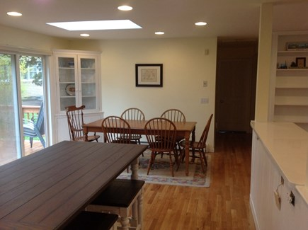 Brewster Cape Cod vacation rental - Dining Area With sliding doors to deck for summer barbecues