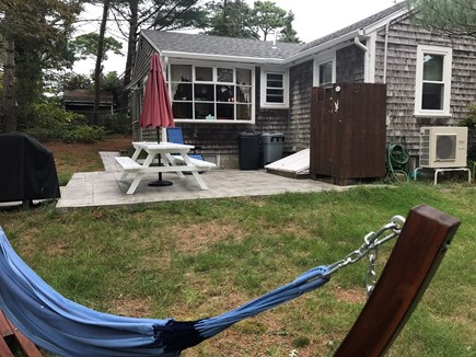 Brewster Cape Cod vacation rental - Relaxing hammock, outdoor shower, and new patio with gas grill.
