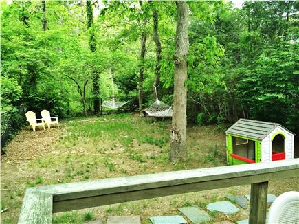 Harwich - Great Sand Lakes  Cape Cod vacation rental - Fenced in backyard